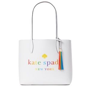kate spade Bags - Kate Spade Arch Rainbow Large Reversible Tote Bag